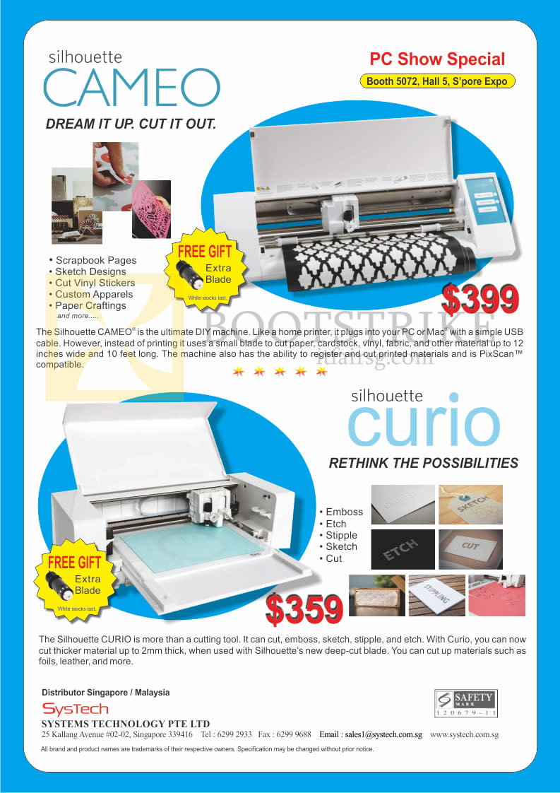 PC SHOW 2016 price list image brochure of Ranger Systems Technology DIY Machine Silhouette Cameo, Curio