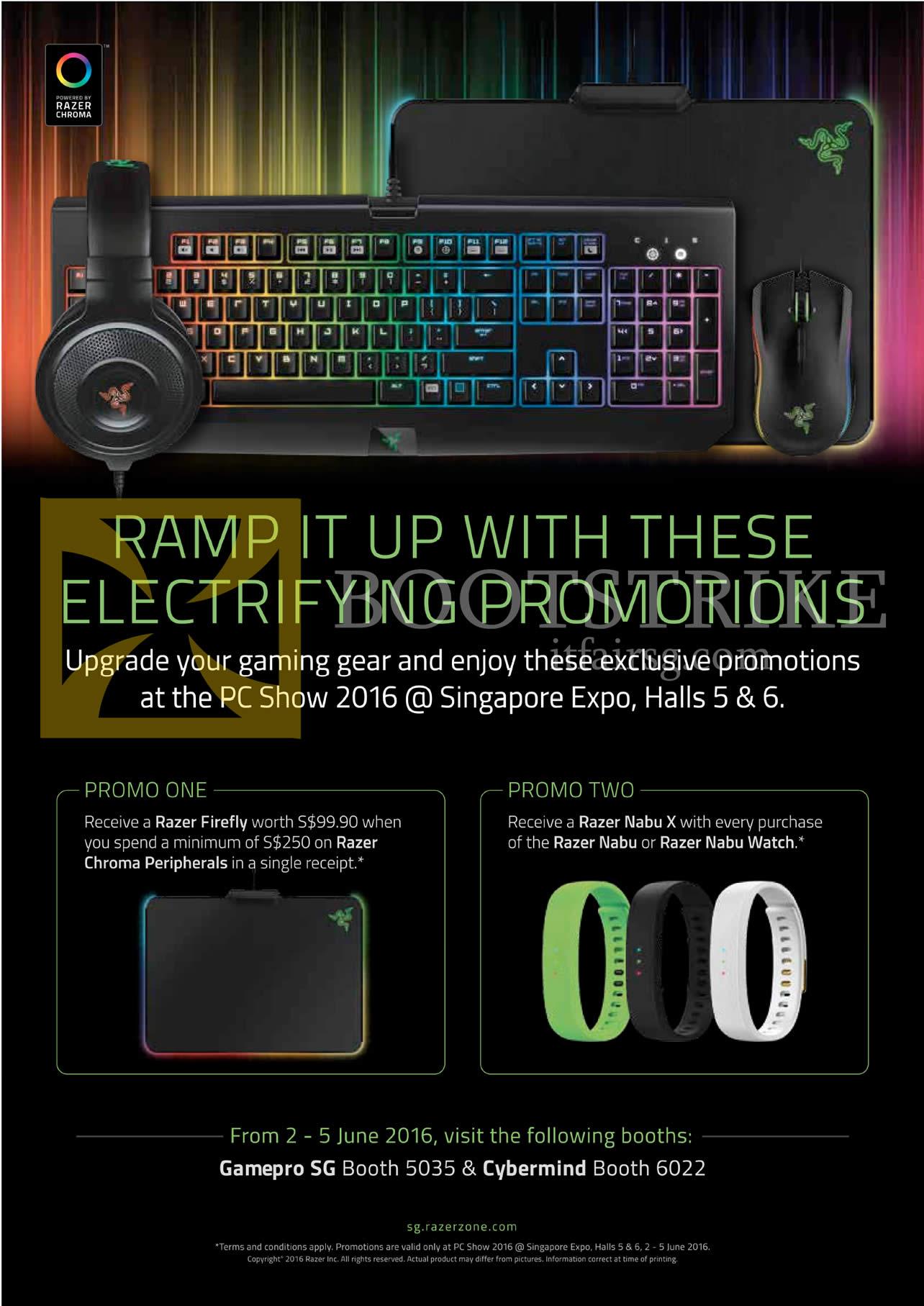 PC SHOW 2016 price list image brochure of Razer Cybermind, GamePro Electrifiying Promotions