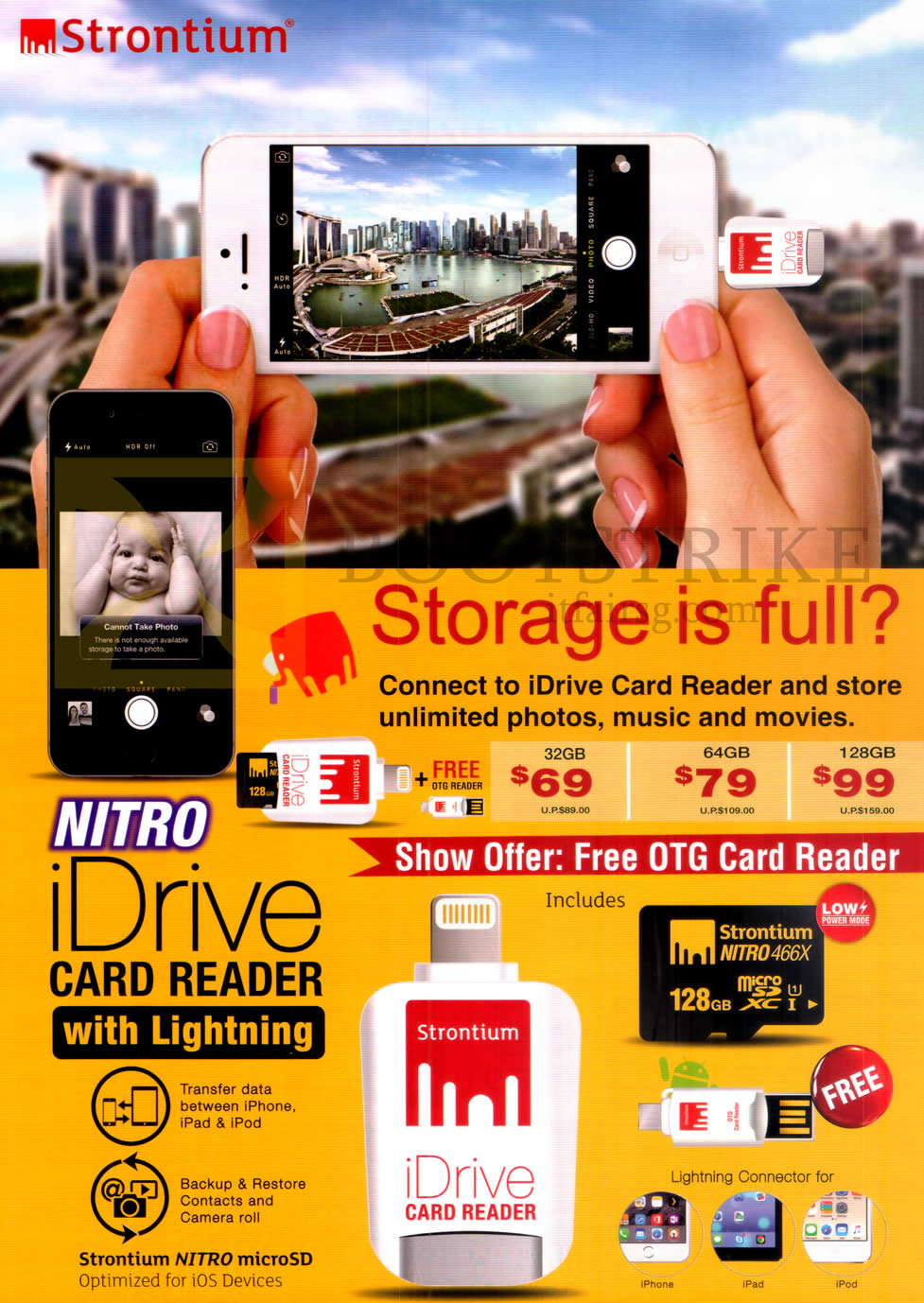 PC SHOW 2016 price list image brochure of Strontium Nitro IDrive Card Reader With Lightning