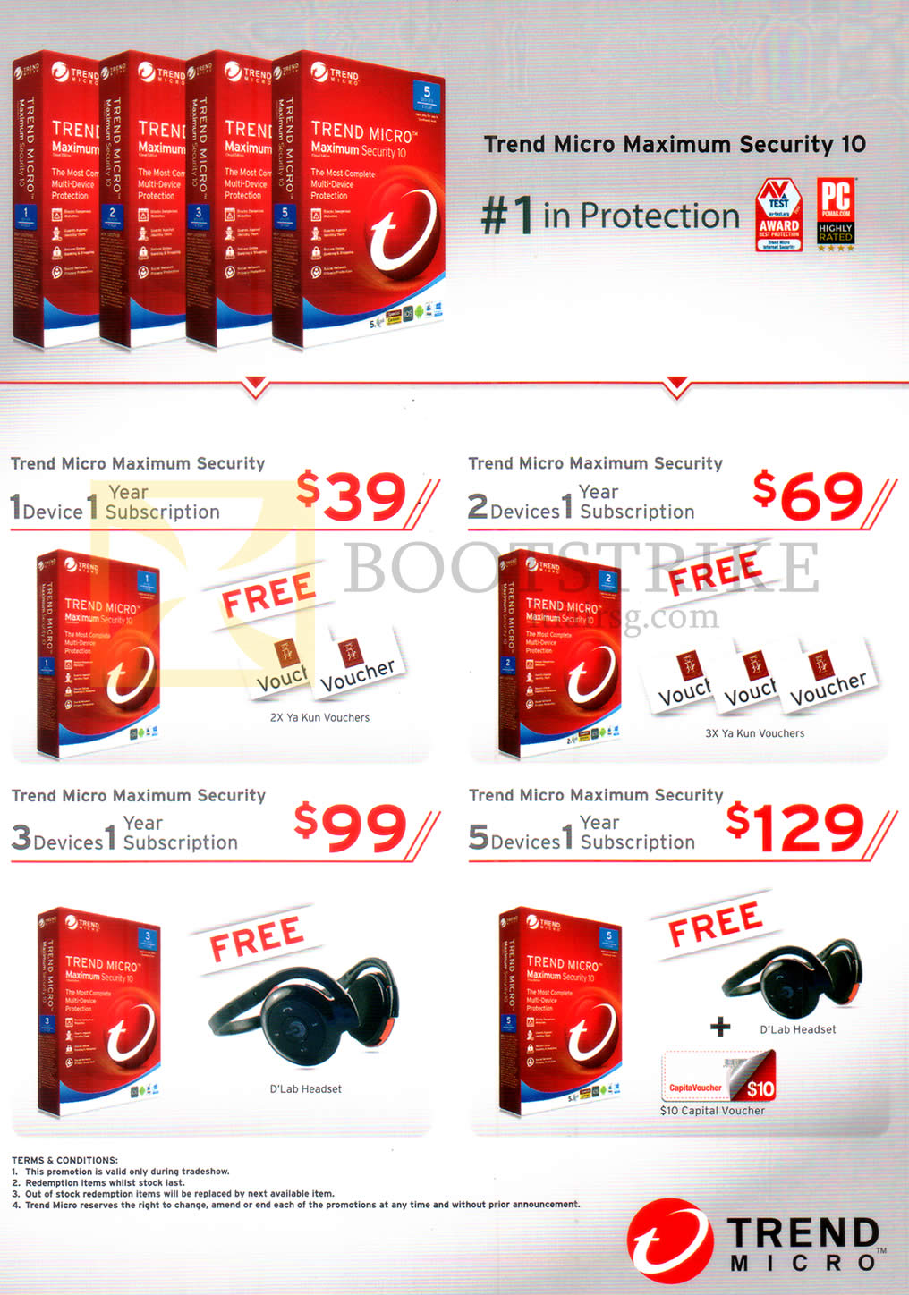PC SHOW 2016 price list image brochure of Trend Micro Maximum Security 10 1, 2, 3, 5 Devices 1 Year Subscription