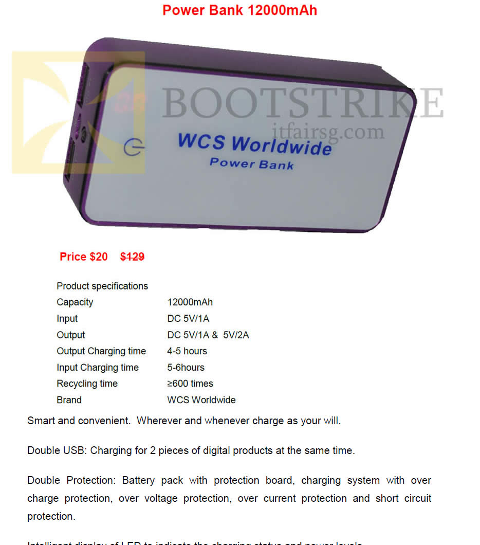PC SHOW 2016 price list image brochure of Worldwide Computer Services Power Bank 12000mah