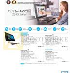Notebooks Zen AiO Pro Z240I Series, Z240ICGT-GJ120X, Z240ICGT-GF086X, Z240ICGT-GF036X, Z220ICUK-GC026X