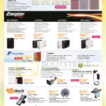 MiLi, IData Pro, Energizer, XP18000A, UE5202, UE7802, UE10402, PowerSkin, Hybrid, ANDINO PowerSLIDE, CARCHARGE, Digidock, Cradles