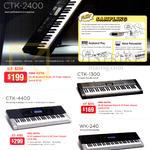 asio Piano Keyboards CTK-2400, 1300, 4400, WK-240
