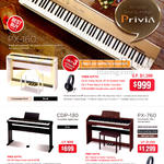 asio Piano Keyboards Privia PX-160, 760, CDP-130