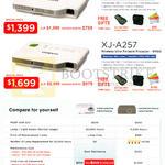 Projectors XJ-A147, A257 Comparison