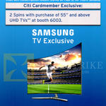 Citi Cardmember Samsung TV Exclusive 2 Spins