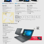 Notebooks Inspiron 11 3000, 13 5000, 15 7000 2 In 1, Gaming Edition