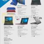 Notebooks Inspiron 11 3000, 14 3000, 14 5000, 15 5000, 15 3000