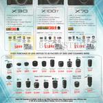 Fujifilm Digital Cameras X30, X100T, X70, Lenses