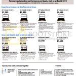 Notebooks ProBook 430 G2 I5, 440 G2 I5, 440 G2 I7, 450 G2 I5, EliteBook Folio 1020 G1 UMA M-5Y51, 820 G3, 840 G3