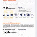 Business Unified Communications 7.50 Per User, Enterprise Mobility Management Mobility Bundle 42.20 Per User