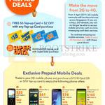 Prepaid Mobile Deals Free 5 Dollar Top Up Card, Alcatel 2045X, Pixi 3, Samsung Galaxy J1 Mini, Xiaomi Redmi 2 Enhanced