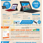 Tablets Surface 3, Pro 4, Office 365, Free Bluetooth Mouse