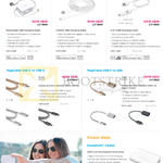 Innergie Charging Cables, MagiCable Retrac, USB To Lightning, Duo, USB-C To USB-C, USB-C To USB, Power Bank PocketCell V5200