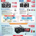 Digital Cameras OM-D E-M10 Mark II, OM-D E-M10, OM-D E-M5 Mark II