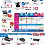 IP Cameras, USB Hub, PIC1006WN-HD, 1007WP, 1008WN, 1003WP, 2001WE, PUH303, 302, 301