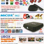 Xiaomi TV Box, Micox, Ubox 3rd Pro, M12, Gen