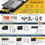 SSDs Storage, Robot Kitty, T3 Portable, 850 Evo, 950 Pro NVMe, 850 Pro, 750 Evo Series, 120GB, 250GB, 500GB, 256GB, 512GB, 1TB, 2TB