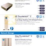 Lacie External Storage Desktop, Network Storage, Porsche Design, D2 Thunderbolt 2, 2big Thunderbolt 2