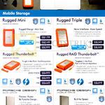 Lacie Mobile Storage Rugged Mini, Triple, Thunderbolt, RAID Thunderbolt, Porsche Design Slim, Mobile Drive