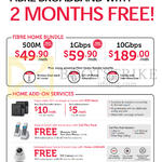 Broadband Fibre Home Bundles, 49.90 500M, 59.90 1Gbps, 189.00 10Gbps. Home Add-on Services WiFi Mesh, Call Plus Pack, Home Livecam, Motorola T302 Phone, Camera
