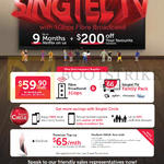 Singtel Fibre Entertainment 59.90 Bundle Plus, 65.00 Apple MacBook Rose Gold Premium