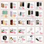 Mobile Phone Accessories Back Case, Card Case, MicroSD, Travel Adapter, Smartwatch, Headphone, Earphone, Bluetooth Headset