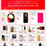 Singtel Mobile Phone Accessories Beats Pro Over Ear, Lifgeprood, Michi Powerbank, Clear View Cover, Back Case, Flip Case, Screen Protector, Sim Adapter