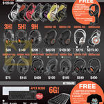 Cybermind Headphones, Keyboards, 3HV2, 5HV3, 9H, Siberia 100, 150, 350, 650, P100, P300, P800, X100, X300, X800, 800, Apex M260, 6GV2