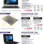 Notebooks Portege Z20t-C109LTE, Z30-C102, Z30-C104, R30-C105