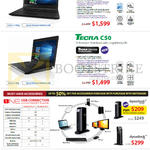 Notebooks Tecra A40-C100, C50-C103, Dynadock V3.0Plus, U3, 3M Privacy Filter, U55 USB Optical Mouse