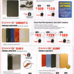 Portable Hard Drives Canvio Premium, Canvio Connect II, Canviq Slim II, Canvio Alumy, 1TB 2TB 3TB
