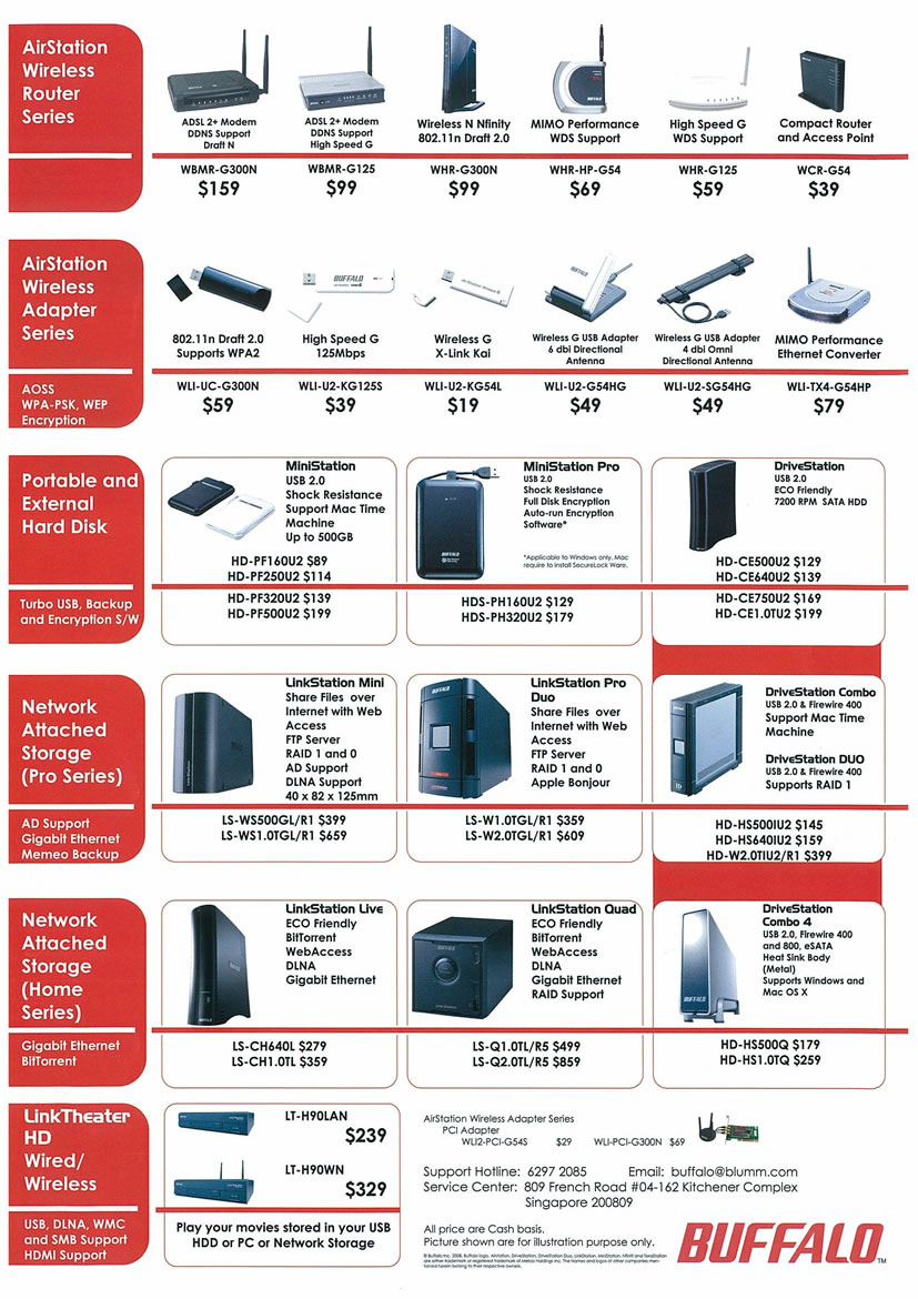 Sitex 2008 price list image brochure of Buffalo Page 2 - Vr-zone Tclong