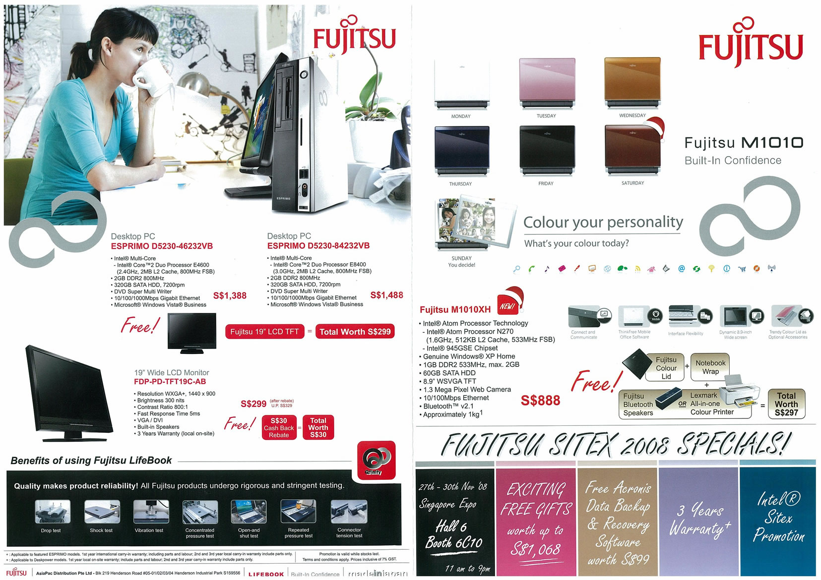Sitex 2008 price list image brochure of Fujitsu 01 Page 1 - Vr-zone Tclong