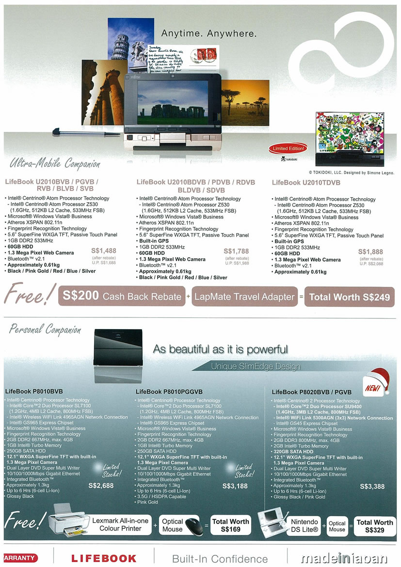 Sitex 2008 price list image brochure of Fujitsu 02 Lifebook Notebooks Page 1 - Vr-zone Tclong