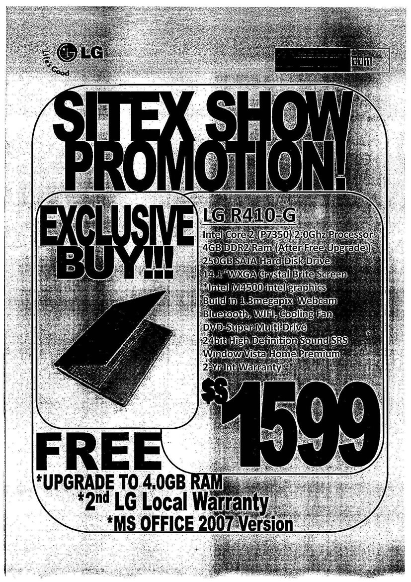Sitex 2008 price list image brochure of LG Notebooks 02 Page 1 - Vr-zone Tclong
