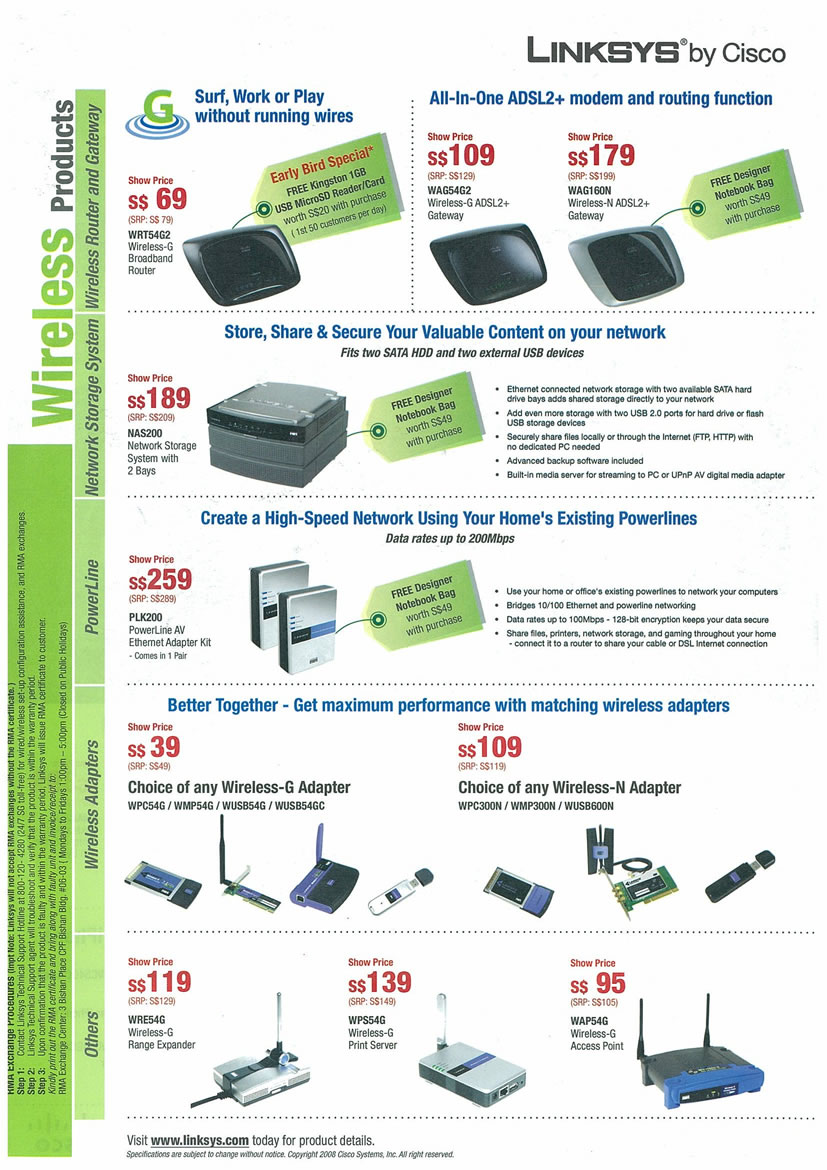 Sitex 2008 price list image brochure of Linksys Page 2 - Vr-zone Tclong