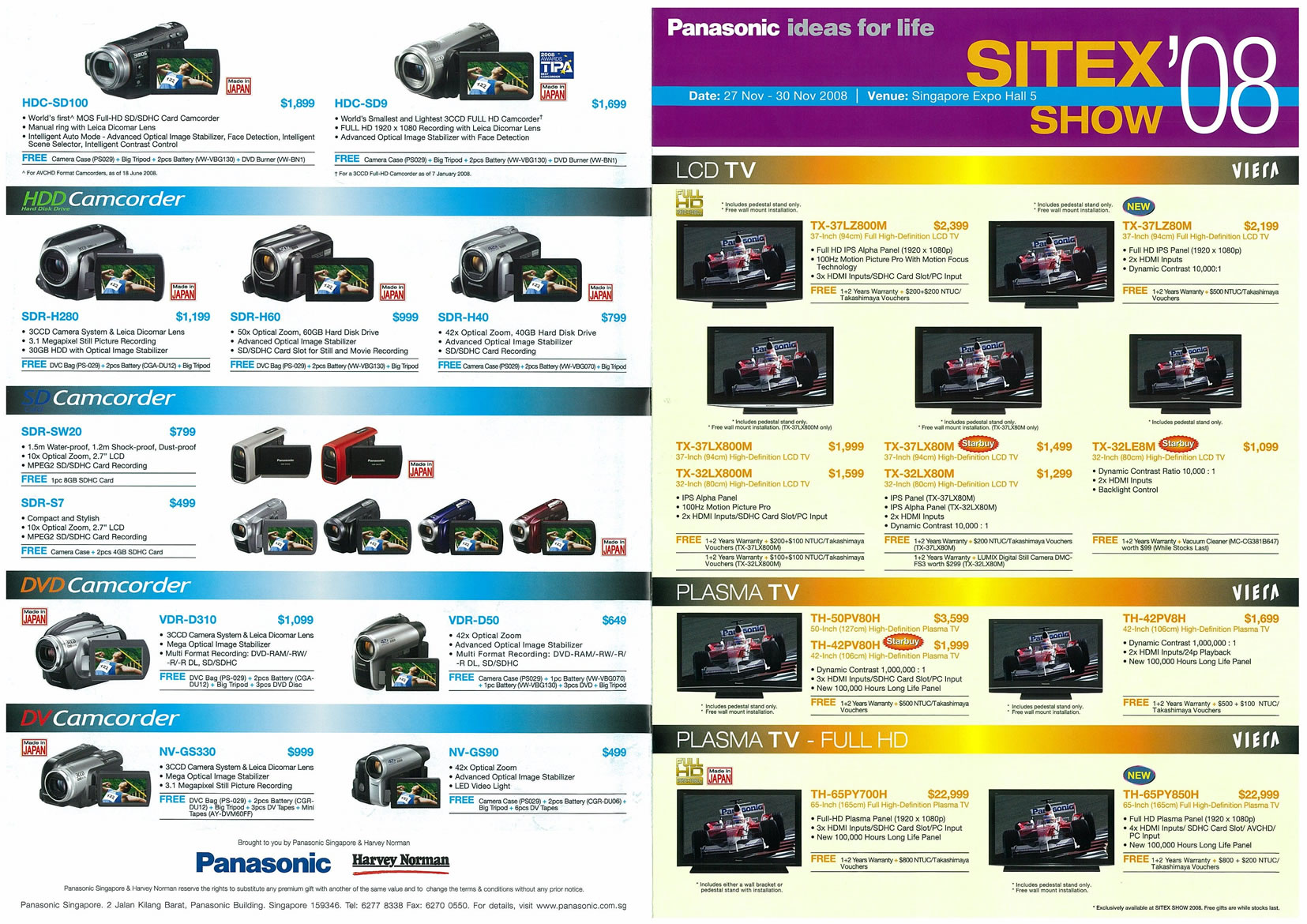 Sitex 2008 price list image brochure of Panasonic Page 1 - Vr-zone Tclong