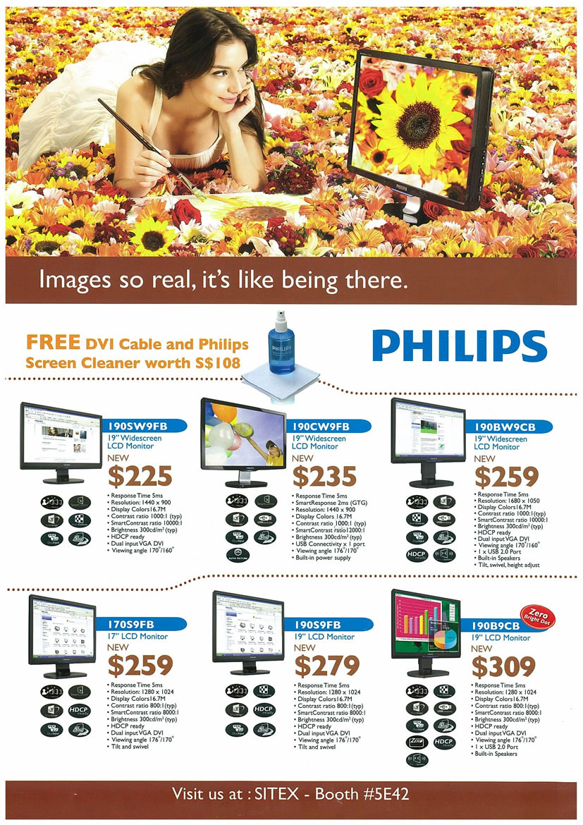 Sitex 2008 price list image brochure of Philips LCD Monitors Page 1 - Vr-zone Tclong