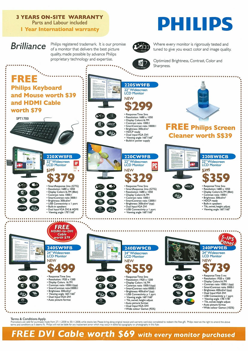 Sitex 2008 price list image brochure of Philips LCD Monitors Page 2 - Vr-zone Tclong