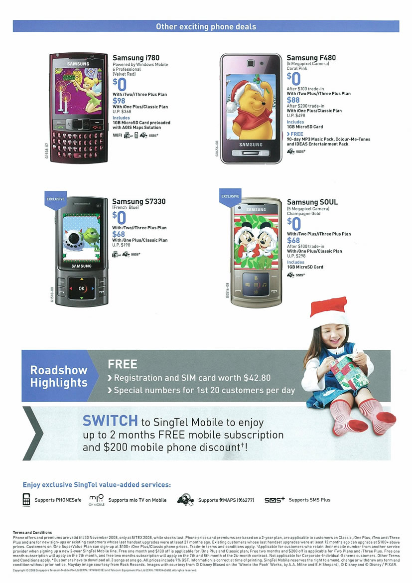 Sitex 2008 price list image brochure of Samsung Mobile SingTel Page 2 - Vr-zone Tclong