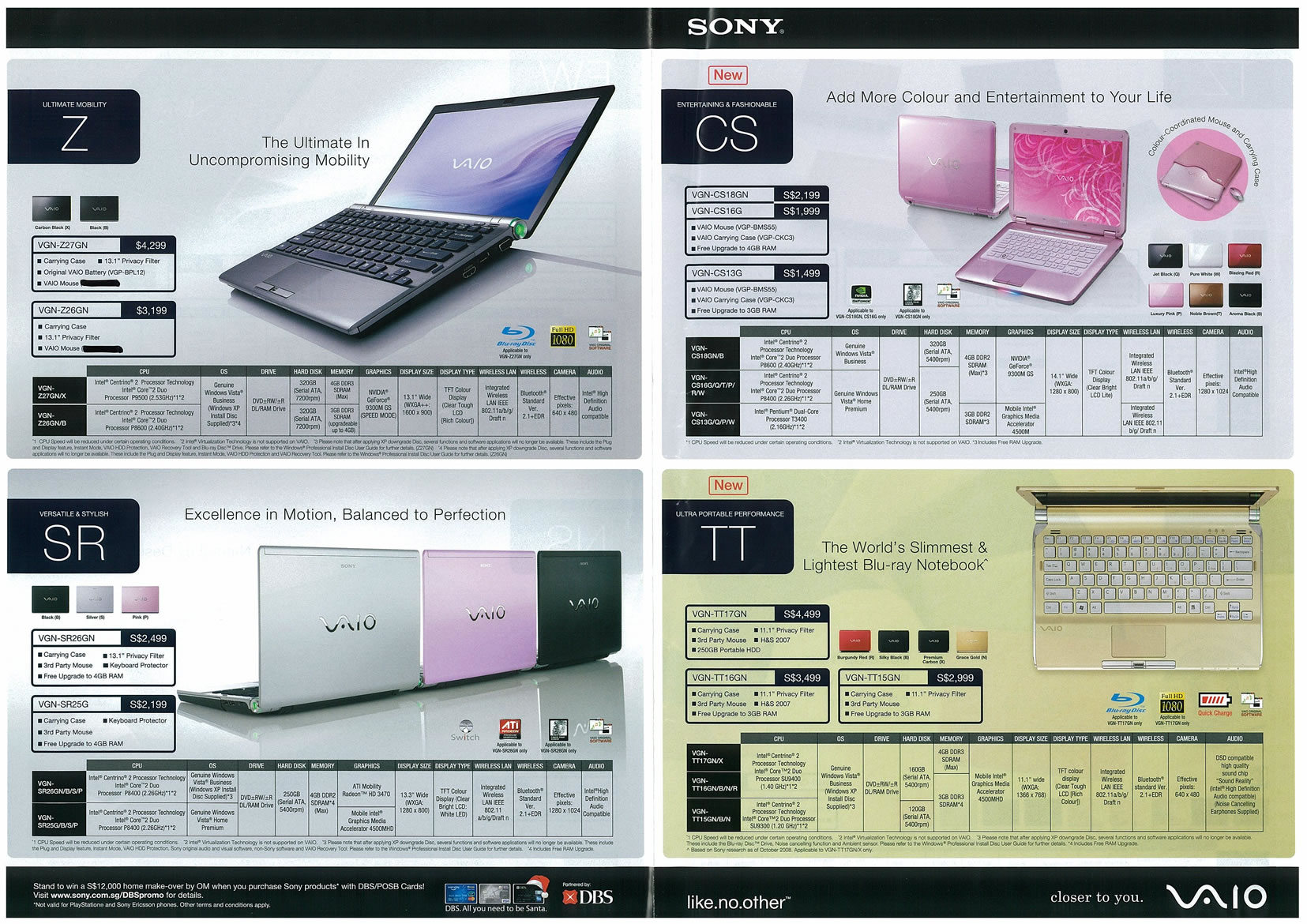 Sitex 2008 price list image brochure of Sony Notebooks Page 1 - Vr-zone Tclong
