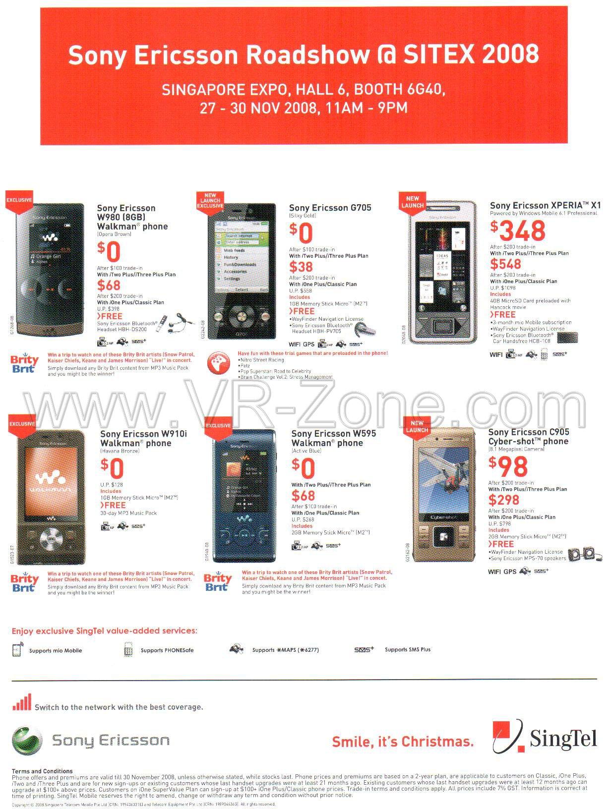 Sony ericsson mobile pictures price list