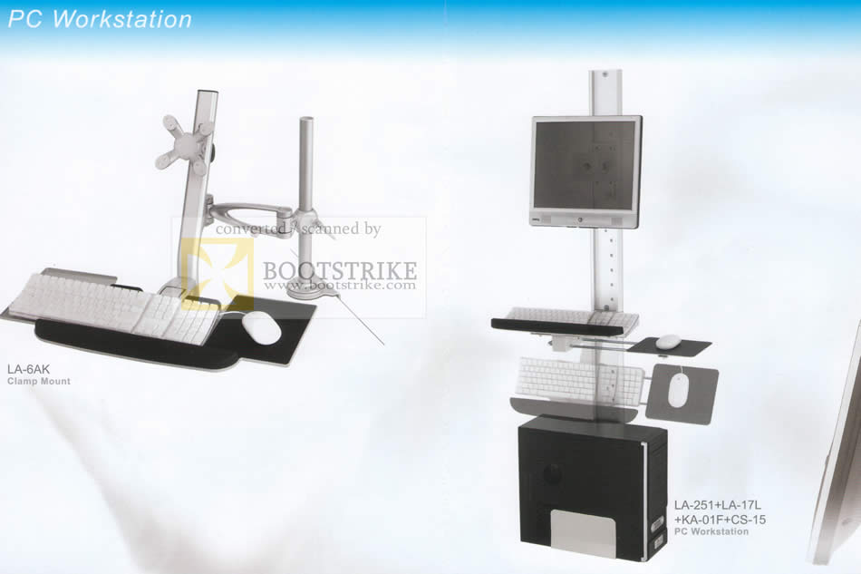 Sitex 2009 price list image brochure of ModernSolid PC Workstation Clamp Mount LA 6AK LA 251 17L KA 01F CS 15