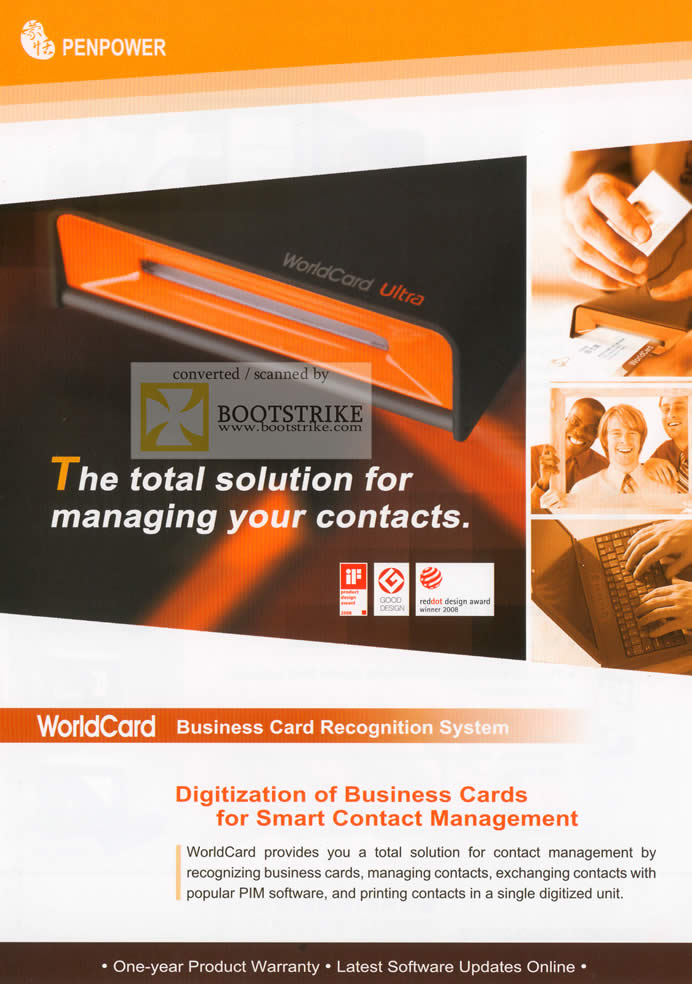 Sitex 2009 price list image brochure of PenPower WorldCard Business Cards Mac Ultra Office Color Database 1