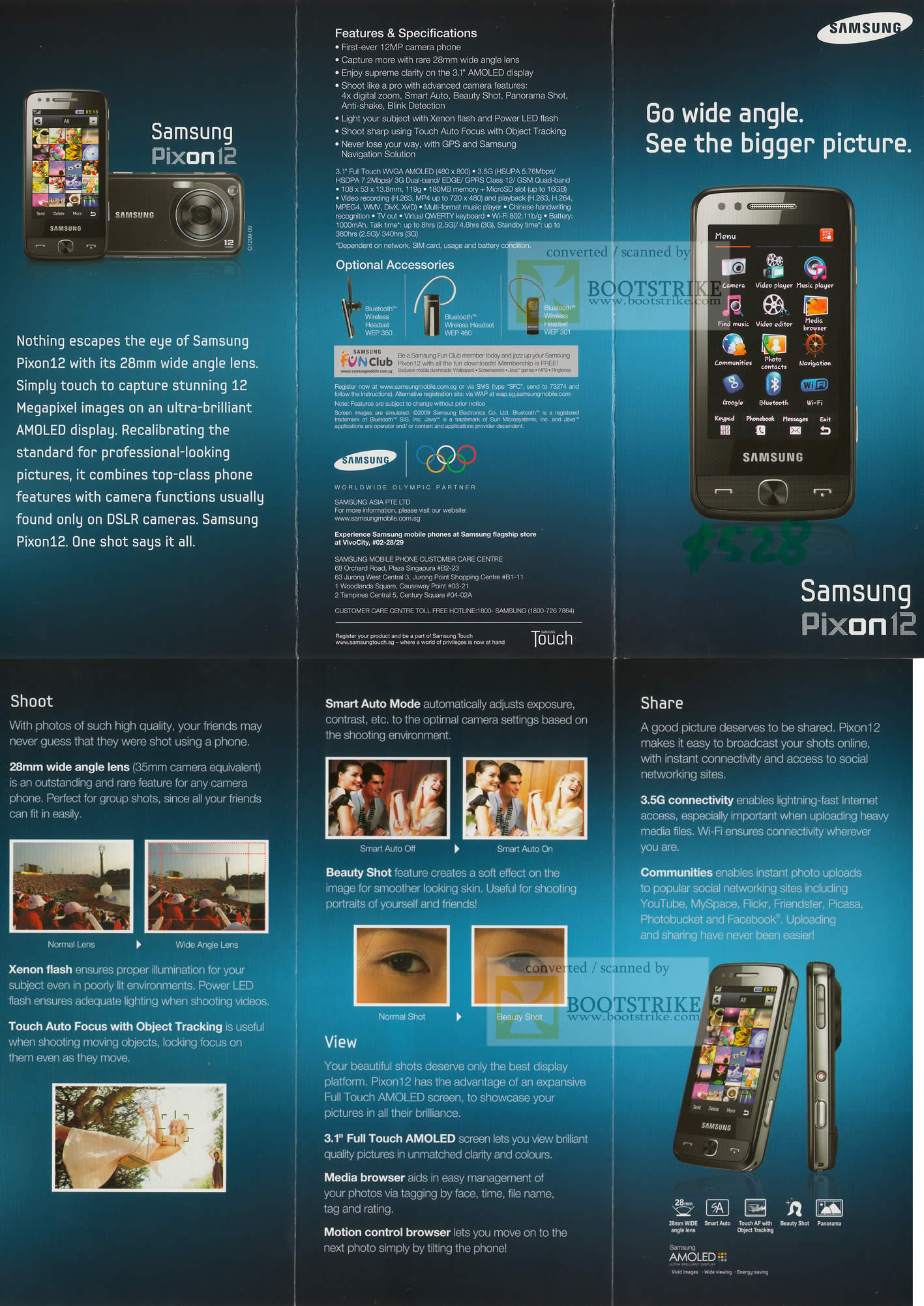 Credit Cards For Fair Credit >> Samsung Pixon12 Mobile Phone OLED SITEX 2009 Price List Brochure Flyer Image