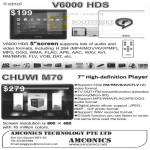 Ainol V6000 HDS Portable Media Player Chuwi M70