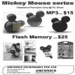 Mickey Mouse Mp3 Player Flash Memory