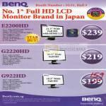 LCD Monitor E2200HD G2220HD G922HD